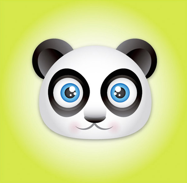 Cute Panda Bear Face Icon