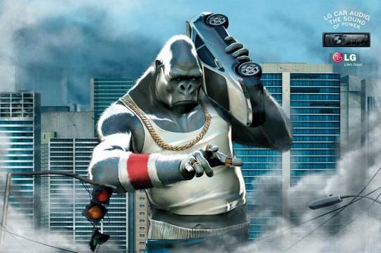 LG Boombox Gorilla