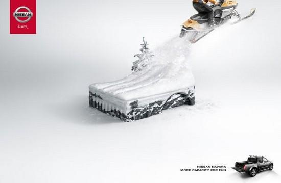 Nissan Navara Snowmobile