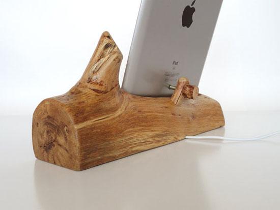 iPad mini wood dock